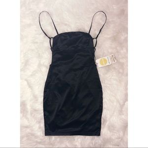 Oh Polly Dresses - Oh Polly Black Satin Dress